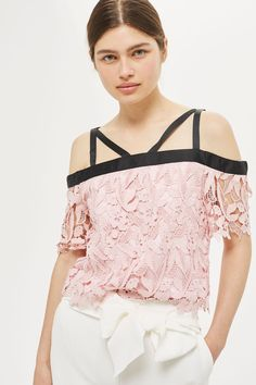 Cold Shoulder Lace Top - New In Fashion - New In - Topshop Europe