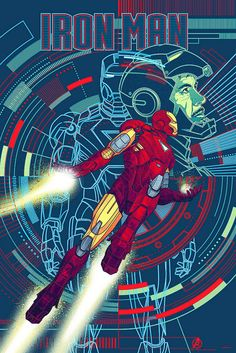 Iron Man- Regular Color by Kevin Tong Illustration, via Flickr
