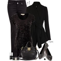 """""""Contest: All Black Everything"""" by exxpress on Polyvore"""