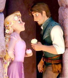 Disney's Tangled - Rapunzel & Flynn Rider - Cupcakes!