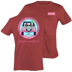 Simply Southern Preppy Wander Jeep Turtle T-Shirt Available in sizes- Adult S,M,L, XL