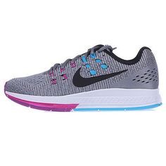 Nike Air Zoom Structure 19 Womens 806584-005 Grey Fuchsia Running Shoes Size 6.5