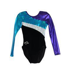 Obersee Kids' Long Arm Diagonal Black Gymnastics Leotard (C Kids Gymnastics Leotards, Gymnastics Suits, Girls Leotards, Gymnastics Clothes, Gymnastics Equipment, Gymnastics Tricks, Elite Gymnastics, Women's Gymnastics, Gymnastics Competition