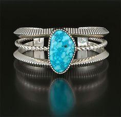 Silver & Turquoise Bracelet by Craig Agoodie (Navajo)