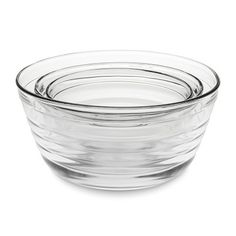 Rippled Glass Mixing Bowls, Set of 3 #williamssonoma