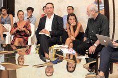 Alcuni scatti dalla tavola rotonda del 28/07 al Castello di Acaya intorno al Tavolo Love Difference di Pistoletto! Art