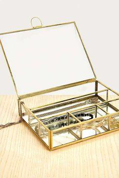 Slide View: 1: Grande boîte à bijoux compartimentée
