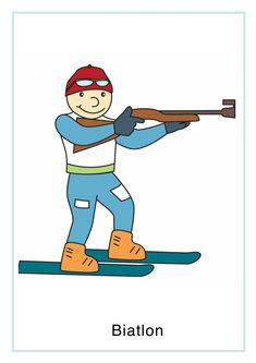 Tablice edukacyjne - Sporty zimowe Dzień Olimpijczyka Grudzień Święta i pory roku Zima Smurfs, Sporty, Boys, Illustration, Fictional Characters, Baby Boys, Illustrations, Senior Boys, Fantasy Characters