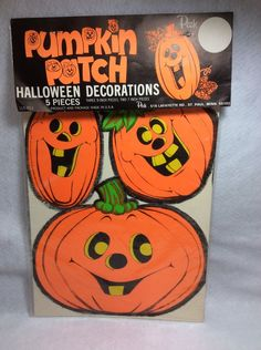 1960's Peck Brand Halloween Paper Decorations Pumpkin Patch 5 Pieces New Sealed | Collectibles, Holiday & Seasonal, Halloween | eBay!