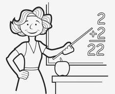 Teacher coloring pages sanna yara раскраски, учитель, день у Kindergarten Coloring Pages, School Coloring Pages, Coloring Pages For Boys, Coloring Book Pages, Printable Coloring Pages, Art Drawings For Kids, Drawing For Kids, Easy Drawings, Learn To Sketch