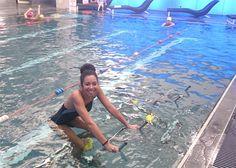 L'aquaspinning (ou aquabiking ou bien aquacycling) de l'autre côté de la Manche avec Natalie Tries