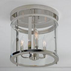 Modern sleek semi flush ceiling light sleek cylinder modern ceiling light mozeypictures Images