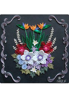 ストレリチアを彩る花々 Takako - Botanical Quilling Japan