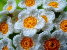 Gänseblümchen häkeln Blumen häkeln - schoenstricken.de