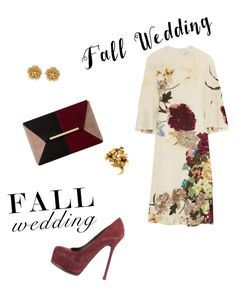 """""""Fall wedding"""" by ebritch ❤ liked on Polyvore featuring Valentino, Yves Saint Laurent, Dune, Tiffany & Co. and Miriam Haskell"""