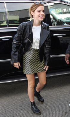 dc2ef86e0ad84c Emma Watson in a leather jacket