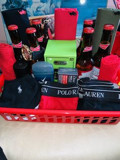 Father day basket or a gift basket for him Fathers Day Gift Basket, Boyfriend Gift Basket, Boyfriend Gifts, Fathers Day Gifts, Gift Baskets For Him, Baskets For Men, Themed Gift Baskets, Raffle Baskets, Bf Gifts
