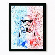 Stormtrooper poster aquarela