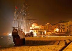 caravela portuguesa em  Vila do Conde, Portugal