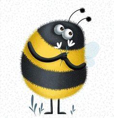 Animal Paintings, Animal Drawings, Art Drawings, Welcome Images, Bug Images, Bee Painting, Animal Doodles, Cartoon Eyes, Looney Tunes Cartoons