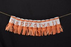 "This is a Set of 6 Traditional Paper Lanterns with ""Happy Diwali"" alphabets written on each lantern. A great piece of decoration for your office or home this Diwali Season. It is also a great addition for your Diwali Party Decor. Our paper lanterns are supplied with a LED light. You can"