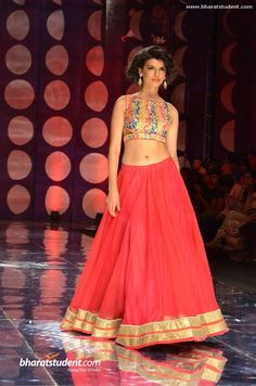 Jyotsna Tiwari @ Amby Valley Indian Bridal Fashion Week...lehenga
