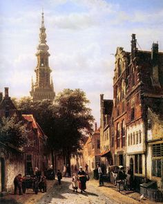 Walenkerk Haarlem by Cornelis Springer Art Paintings For Sale, Old Paintings, Amsterdam, Carl Spitzweg, City Painting, Painting Art, Medieval Life, Dutch Painters, Art World
