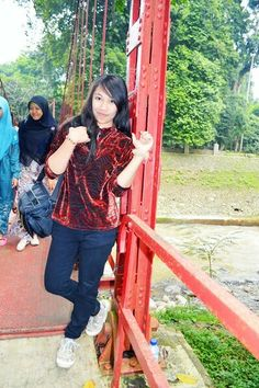 #Red #Bridge #KebunRayaBogor #Indonesia #Girl #Me #Cool #Pretty