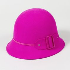 Bold Buckle Cloche Hat