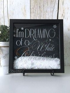 Christmas Decorations, Christmas Shadow Box, I'm Dreaming of a White Christmas, Snow Flurries, Christmas Gift Christmas Signs, Diy Christmas Gifts, Christmas Projects, White Christmas, Christmas Holidays, Christmas Decorations, Christmas Travel, Christmas Ideas, Christmas Shadow Boxes