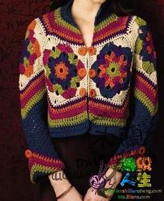 Crocheted jacket.
