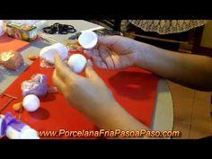 Muñeco de Nieve 1 de 2 - Porcelana Fria Paso a Paso