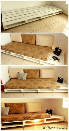 How to Turn old #Pallets into Pallet Couch | 101 Pallet Ideas #diyfurniturecouch