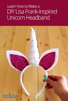 This DIY unicorn headband with ears and a horn is both easy to make with this step-by-step lesson!