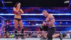 John Cena proposes to Nikki Bella at WWE match and it's surprisingly romantic