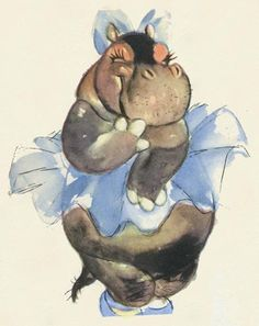 *HYACINTH HIPPO ~ Fantasia, 1940 I wouldn't get this tattooed but oh so cute!