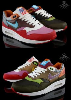 NIKE AIR MAX 1 'WHAT THE AM ONE' BY REVIVE CUSTOMS - Revive Customs has customized the Nike Air Max 'What the AM One' as a sort of homage to Patta and their unfortunate store closing. They have used the best Air Max 1 colorways that has been released over the past few years for the design, such as:    Parra x Patta, Amsterdam, Kid Robot, Huf Hyperstrike, 112, Urawa, USA, Evolution, CLOT Kiss of Death, Atmos (Safari, Viotech & Elephant) & the OG Red.