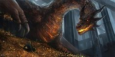 SOMEONE DREW THIS! The Hobbit Fan Art / Smaug