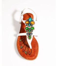 Sandalias planas mujer con piedras 29,99 €