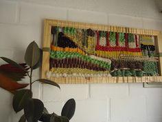 TELAR PALOS & LANAS : Cuadro telar decorativo..¡¡ 90x40