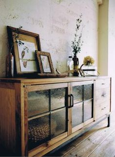 Lovely Console--- modern boho bohemian mid-century wood tones interior design decor - eclectic mod vintage earthy home Home Furniture, Furniture Design, Cheap Furniture, Bedroom Furniture, Home And Living, Interior Inspiration, Home Accessories, Living Spaces, Living Room