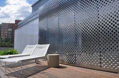 Perforated metal sheet facade cladding LUMENHAUS Zahner