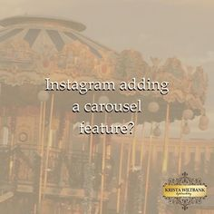 H/T to @MollyMarshallMarketing for bringing this gem to my attention! ⚜ Instagram has a carousel (multiple image) feature in a beta release for Android users, according to a report from @Verge. They're able to add up to 10 images/videos in one gallery, and apply effects to them collectively or individually. Instagram users will be able to like individual photos in the carousel. ⚜ What does this mean for marketing? You can put all creative for an organic campaign -- or multiple photos for an…