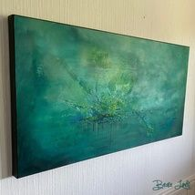 BeasGalleri - Epla Figurative, Tapestry, Canvas, Green, Painting, Decor, Heavens, Abstract, Photo Illustration