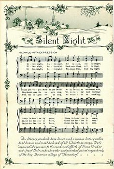 Christmas sheet music Silent Night is my favorite Christmas Song Christmas Sheet Music, Noel Christmas, All Things Christmas, Winter Christmas, Vintage Christmas, Christmas Crafts, Christmas Decorations, Christmas Ornaments, Christmas Collage