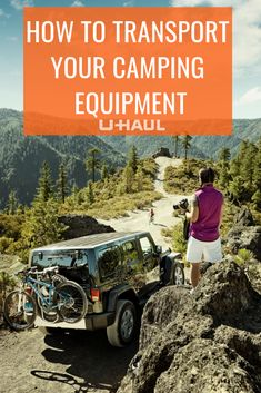 Want to hit the trails during your camping trip? Not a problem! Learn how you can transport your bike hassle-free 👍 Camping Equipment, Camping Tips, Campsite, More Fun, Transportation, Monster Trucks, Bike, Learning, Camping Tricks
