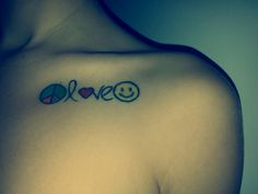1000 images about peace love happiness tattoo on for Peace love happiness tattoo