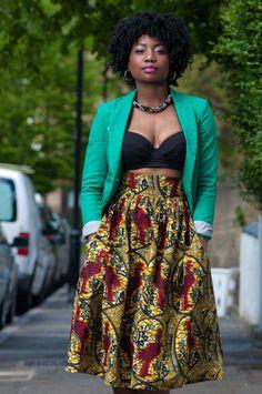 Skirt by Zanjoo. ~African fashion, Ankara, kitenge, African women dresses, African prints, Braids, Nigerian wedding, Ghanaian fashion, African wedding ~DKK