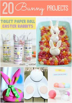 Great Ideas-- 20 DIY Bunny Projects!! #DIY #Easter