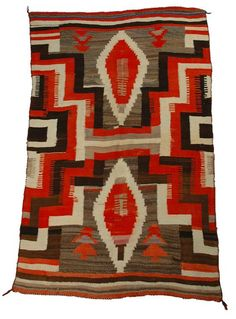 Anonymous;  Antique Navajo American Indian Transitional Blanket.